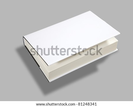 Blank book open cover white w clipping path