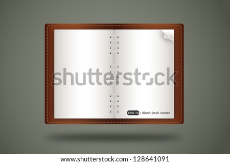 blank book open, vector