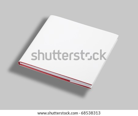 Blank book white cover w clipping path