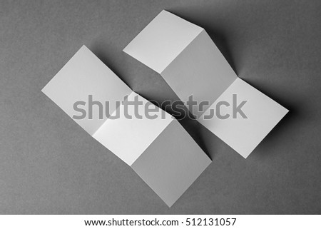 Blank booklets on grey background