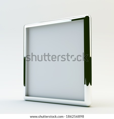 blank box display new design aluminum frame template for design work,isolate on white background. #186256898