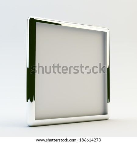 blank box display new design aluminum frame template for design work,isolate on white background. #186614273