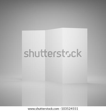 Blank brochure folded