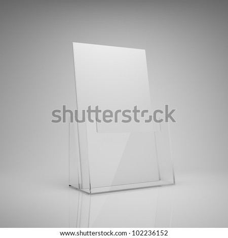 Blank brochure glass holder