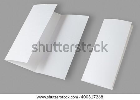 Blank Brochure isolated on grey background