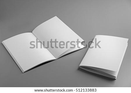 Blank brochures on grey background #512133883