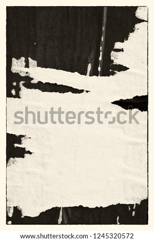 Blank brown creased crumpled paper texture background old grunge ripped torn vintage collage posters placard