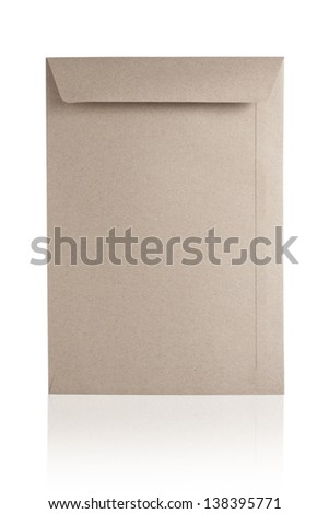 Blank Brown Envelope Isolated On White Background