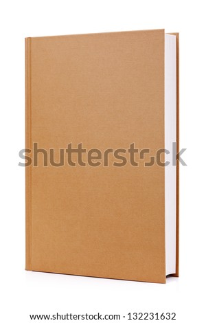 Blank Brown Hardback Book Cover Ready For Text Or Graphic ...