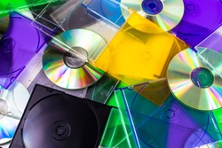 Blank Burnable, Recordable, Writeable & Rewriteable CDs & DVDs with Opened and Closed Multi-color and Black Slim Jewel Cases