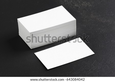 blank business cards #643084042