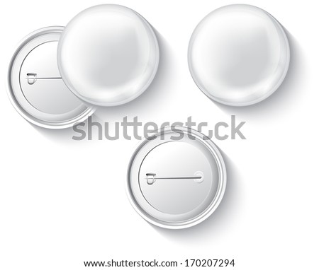 Blank button badge isolated on white