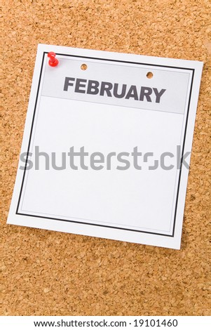 blank calendar 2010 february. stock photo : Blank Calendar, February, close up for background