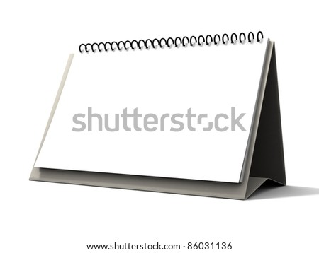 Blank calendar isolated on white