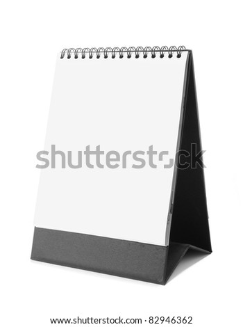 blank calendar isolated on white background