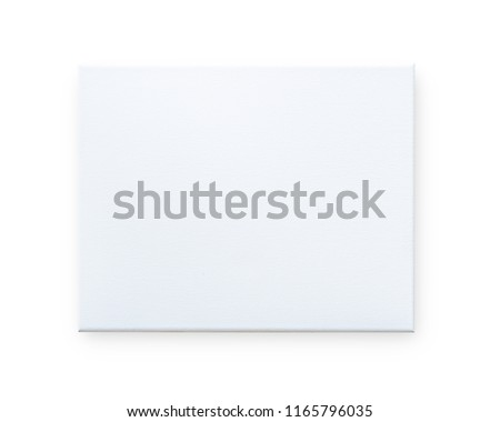 Blank canvas frame mockup isolated on white background (clipping path) for arts painting and photo hanging interior decoration mock up