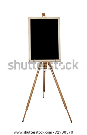 blank canvas on easel