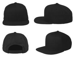 Blank cap 4 view color black