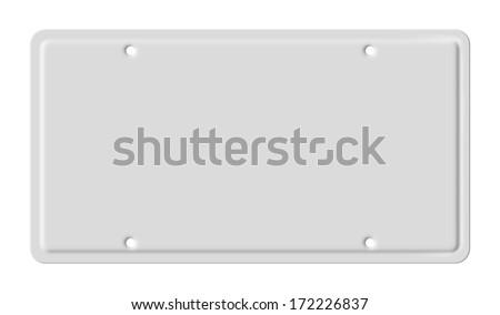 Blank car plate ストックフォト ©