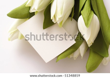 stock photo Blank card for spring Easter wedding or Mothers Day with