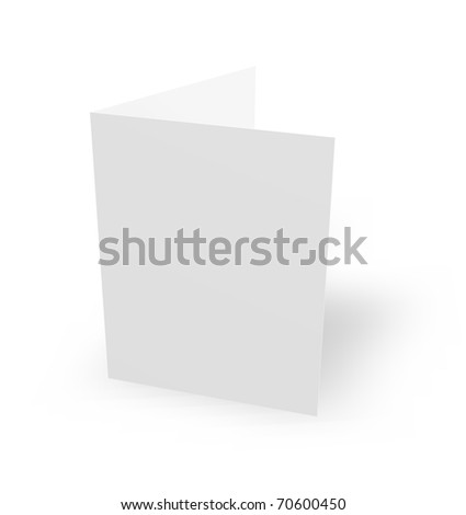 blank card on white background - 3d illustration - stock photo