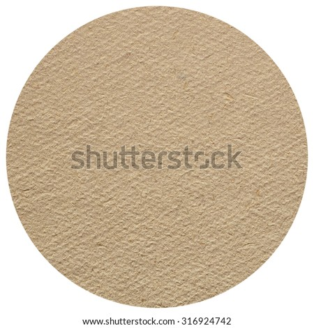 Blank cardboard beermat for a pint of beer isolated over white background