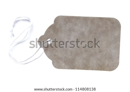 blank cardboard price tag isolated