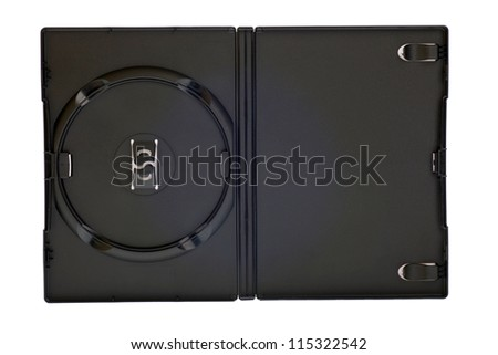 blank case DVD / CD isolated white background