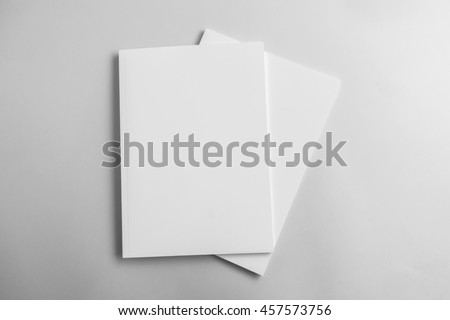 Blank catalog, magazine, book template with soft shadows. Ready for your design #457573756