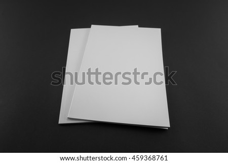 Blank catalog, magazine, book template with soft shadows. Ready for your design. #459368761
