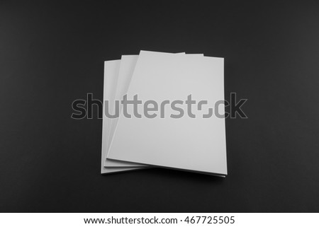 Blank catalog, magazine, book template with soft shadows. Ready for your design. #467725505
