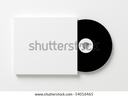 Blank cd cover on white background