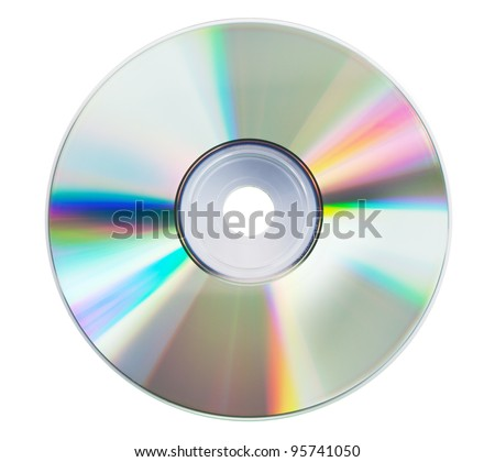 Blank CD glare on the white background