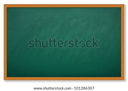 Blank chalk board and wood frame for write and teach