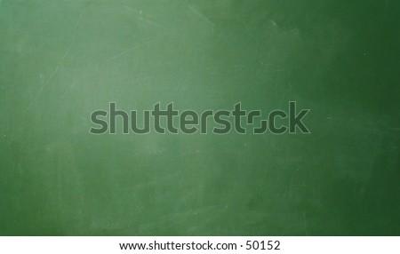 Blank chalkboard surface.