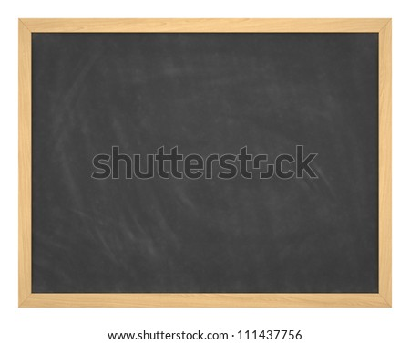 Blank chalkboard with wood frame, erased and ready for your message