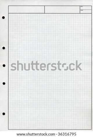 Blank checkered paper sheet useful as a background