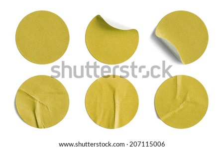 Blank Circle Retail Tags Isolated on a White Background. #207115006