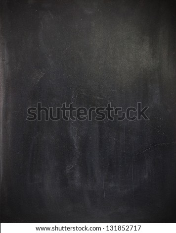 Blank cleaned chalkboard