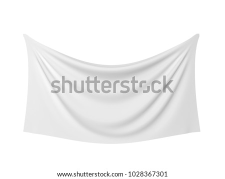 Blank cloth banner. 3d illustration isolated on white background
