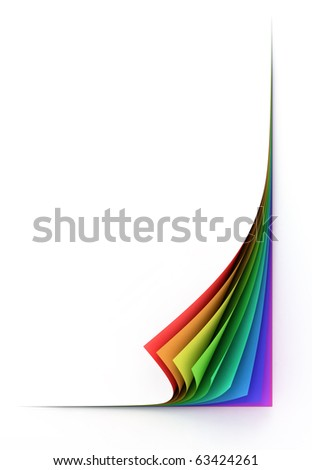 blank colorful paper sheets