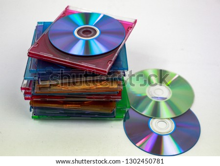 blank compact discs and cases for recording #1302450781