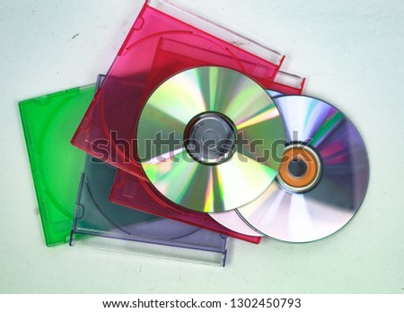 blank compact discs and cases for recording #1302450793