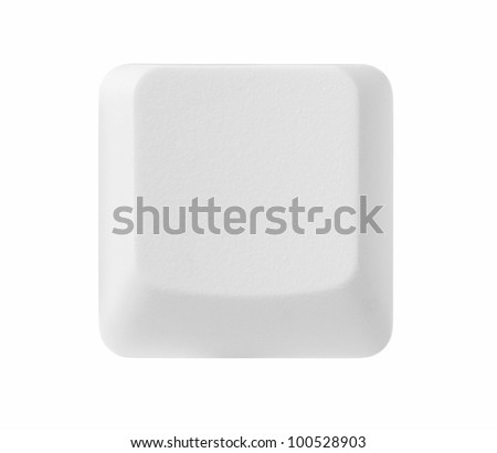 Blank computer key isolated on white background with copy space, clipping path included #100528903