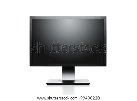 Blank computer monitor with clipping path for the screen
