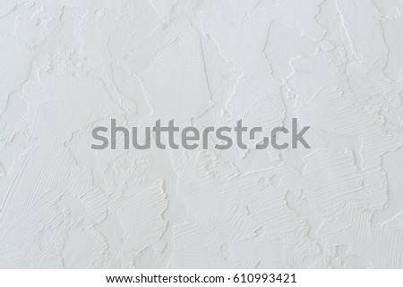 Blank concrete wall white color for texture background #610993421