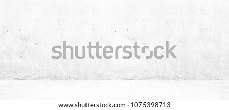 Blank concrete wide white wall texture background