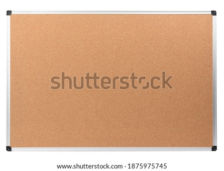 blank cork notice board with metal aluminum frame isolated on white background Stock photo ©