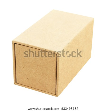 Blank craft pater board box for small luxury product . Box 3x3x5 inches. Template ready for your design. #633495182