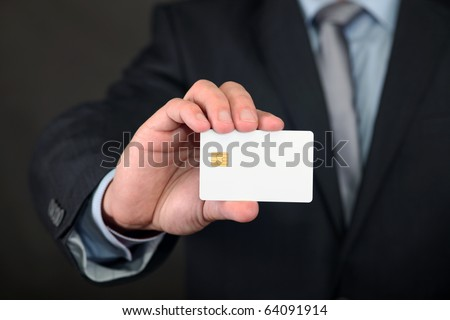 Blank Credit Card in Businessmen Hand